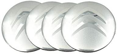 4 Piezas Coche Rueda Buje Tapas Centrales para Citroen DS3 DS4 DS6 C2 C3 C4 C4l C5, Tapones Impermeabl Polvo Decorativo Accesorios Ornamentales con Logo