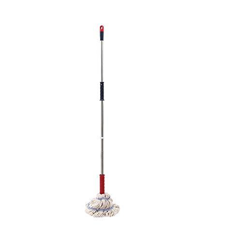 WPCBAA Hand-free mop intrekbare opknoping mop paal huishoudelijke reiniging katoen vezel mop vloer tegel kunststof vloer cement oppervlak absorberende mop