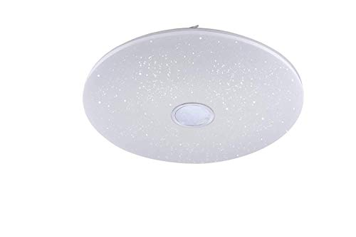 Leuchten Direct Modern Moderne runde Deckenleuchte/Deckenlampe/Lampe/Leuchte weiß mit Sternenhimmel 79cm inkl. LED 80W 5020 Lumen - Jona Dimmer/Dimmbar/Innenbeleuchtung/Wohnzimmer/Schlaf