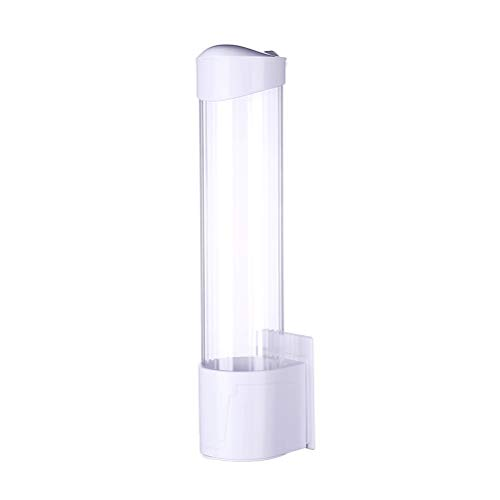 AILOS Dispensador de Vasos, Enfriador de Agua Dispensador de Vasos, Portavasos de Papel desechable Dispensador de Vasos de Papel a Prueba de Polvo Portavasos de Agua automático