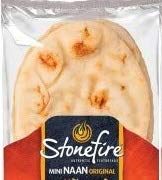 Stonefire Mini Naan (Original) Fresh Authentic Flatbreads, 18 Mini Flatbreads Total in a resealable packaging