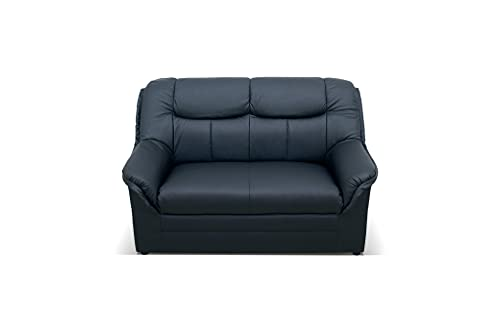 DOMO. collection Berlin FK, klassisches Sofa,Sitzer mit Federkern, Polstergarnitur, schwarz, 2