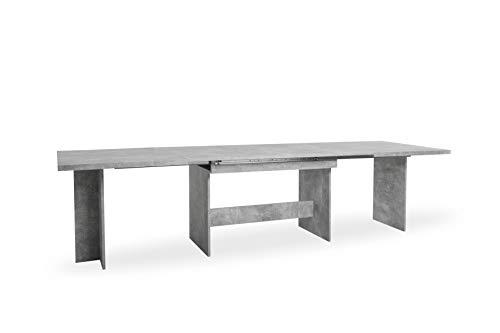 FINORI Ancona Beton grau Nb. Auszugstisch Esstisch Kulissentisch Speisezimmer ausziehbar bis ca. 310 cm