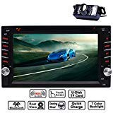 EINCAR 6.2 Double DIN Touchscreen in Car Dash Bluetooth Stereo MP3 Audio Video Dvd CD FM AM RDS Radio/TF/USB/AUX-in/subwoofer/Volante Contrl/Rear View Camera + Telecomando
