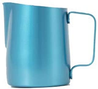 WPM HC-7116BL 500ml Turquoise Sharp Spout Milk Frothing Jug, Stainless Steel