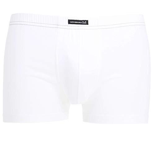 Götzburg Boxershorts Herren 6er Pack Unterhosen, Männer Unterwäsche aus hochwertiger Baumwolle (6, weiß-hell-Uni)