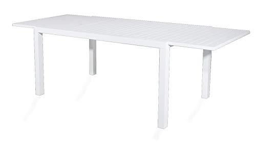 VERDELOOK Tavolo sardegna bianco allungabile da 200 a 300 x100xh74cm