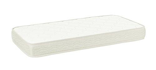 Colchón de cuna ESPUMA ACOLCHADO transpirable para cunas Altura 10 cm Varias medidas Fabricado en España Confort Descanso Dormitorio infantil (117x57 cm)