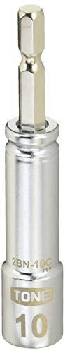 トネ(TONE) 電動ドリル用コンパクトソケット 2BN-10C ビット差込 二面幅10mm