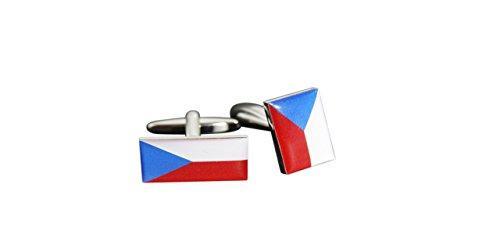 Flaggenfritze® Manschettenknöpfe Fahne / Flagge Tschechische Republik