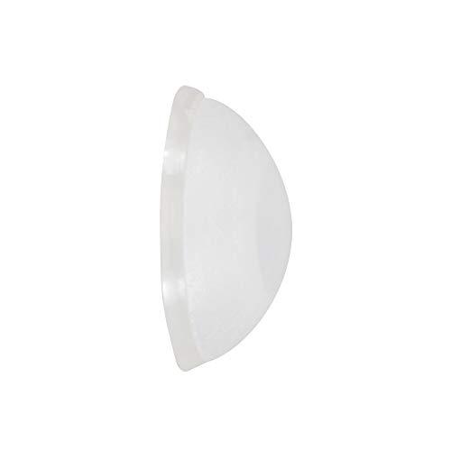WAGNER Wandpuffer SOG SATINIERT 2-tlg. Set - Durchmesser Ø 20 x 7 mm, hochwertiger Kunststoff, zum Schrauben oder Kleben, schlichtes und elegantes Design - 15232112