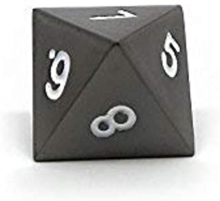 Gun Metal D8 Dice - Single 8 Sided RPG Dice with White Numbering