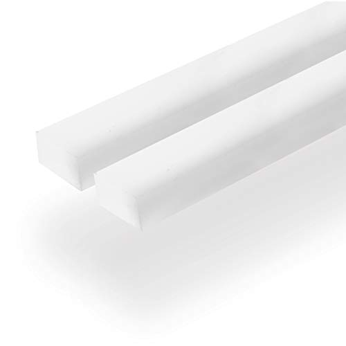 UHMW Precision Milled Bar 3/4' X 3/8' X 36' For Jigs, Fixtures or Miter Slots (size 3/4' x 3/8'). Slick Durable Material Slides with Ease. Ideal for Table Saws, Router Table and Bandsaws (2 UHMW Bars)