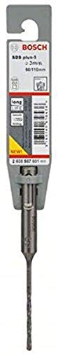 Bosch 2608587801 SDS-Plus-5 Masonry Drill Bit, 3mm x 50mm x 110mm, Grey