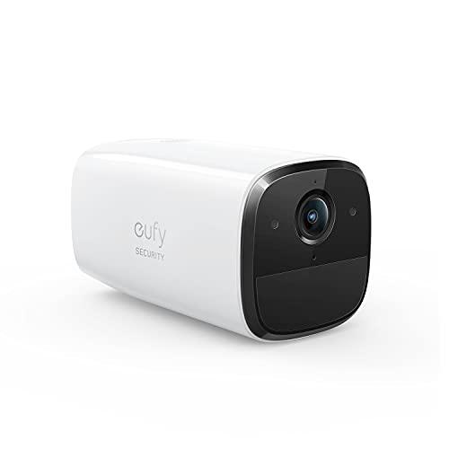 eufy Security SoloCam E20, kabellose eigenständige Sicherheitskamera für Draußen, Wlan, kabellos, 1080p, IP65 wetterfest, Nachtsicht, lokaler Speicher, gebührenfreie Nutzung