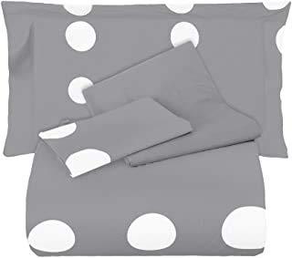 Juego de sábanas para cama individual de 1 plaza Mirabello Emporium, 100% percal de puro algodón, sábana encimera efecto colcha + sábana bajera + 1 funda de almohada (Fall M31)