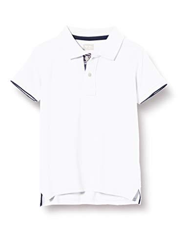 Pepe Jeans Jungen Thor Jr Poloshirt, Weiß (Optic White 802), 9-10 (Herstellergröße: 9/10 Jahre)