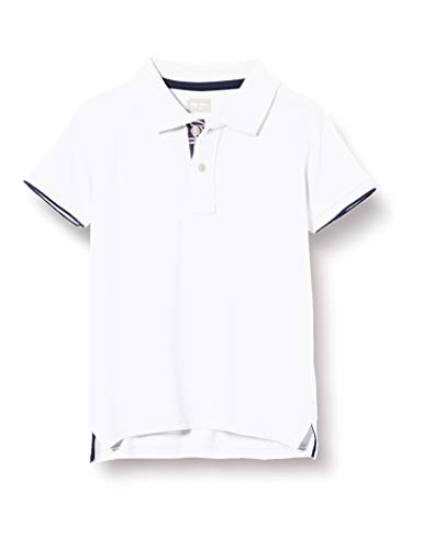 Pepe Jeans Thor Jr Polo, Blanco (Optic White 802), 13-14 añ