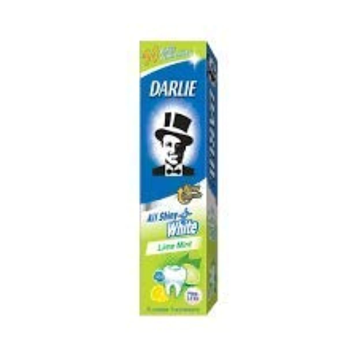ガム思い出させるに対応DARLIE 歯磨き粉すべての光沢のあるホワイトライムミント140g - 虫歯と戦い、歯を保護するフッ化物を含みます