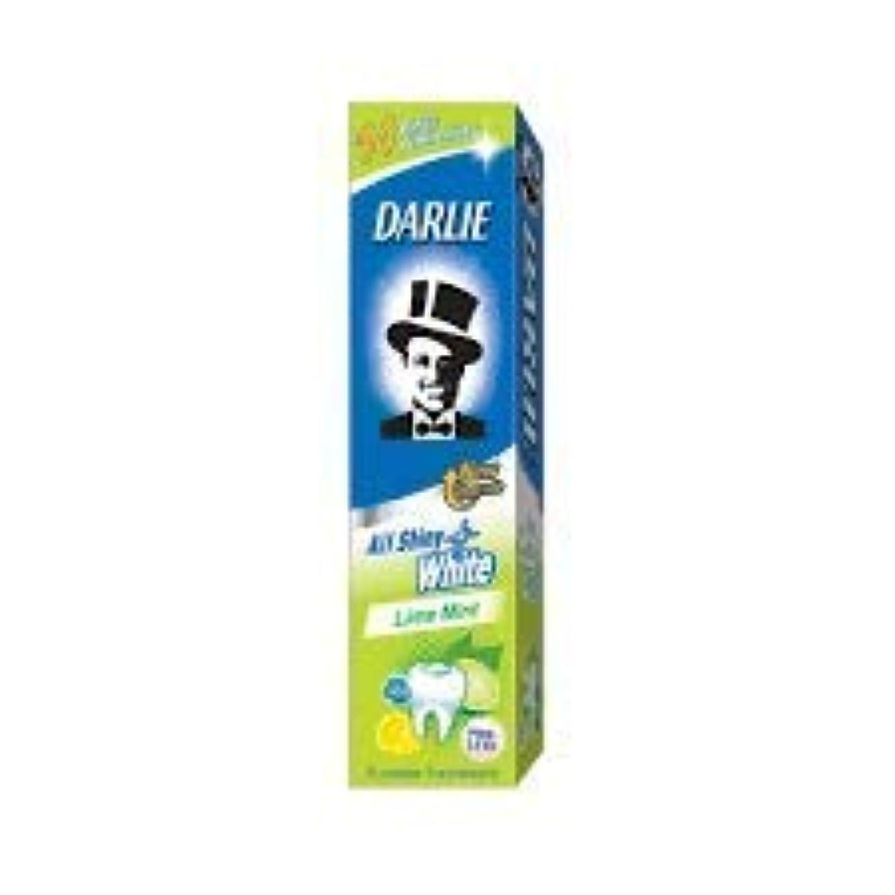 チート野心構築するDARLIE 歯磨き粉すべての光沢のあるホワイトライムミント140g - 虫歯と戦い、歯を保護するフッ化物を含みます