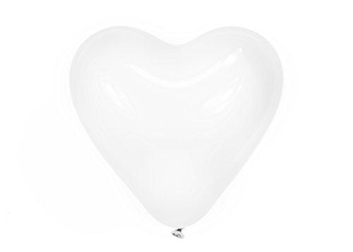 Trendario 100 x Herzluftballons, Helium Herz Luftballons, Herz Deko für Valentinstag Hochzeit Verlobung Geburtstag Baby Party (Weiss)