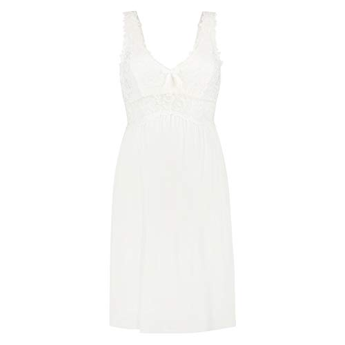 Hunkemöller Damen Slipdress Modal Lace, Off White [96311], L