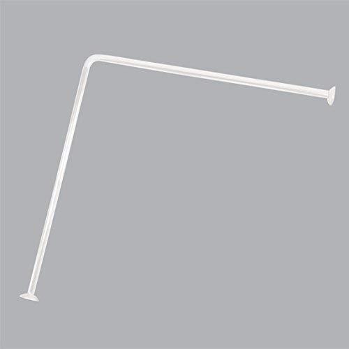 Tendance – Barre de Rideau d'angle, 80 x 80 cm, Aluminium, Blanc, 30 x 30 x 30 cm