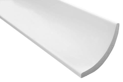2 meter   Styrofoam stuclijst   plafond   stabiel   wit   sierprofiel   licht   decoratief   XPS   75x75mm   E-13
