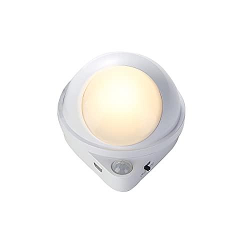 1200mAh LED lámpara de inducción del cuerpo humano recargable pequeña luz de la noche ajustable auto sensor luz inteligente control de luz lámpara de inducción para dormitorio escalera cabecera