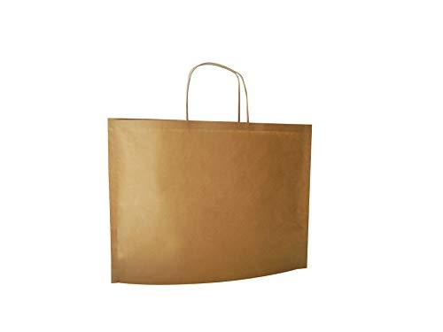 Carte Dozio - Shopper Bbag in Kraft, color Avana, maniglia ritorta, f.to cm 36+10x27+1, cf 25 pz