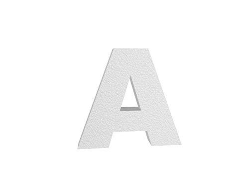 Lettera 3D in polistirolo (45 cm) 4 cm spessore - SCEGLI LA LATTERA - - A