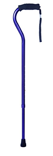 Essential Medical Supply Offset Cane with Rib Handle, Amethyst
