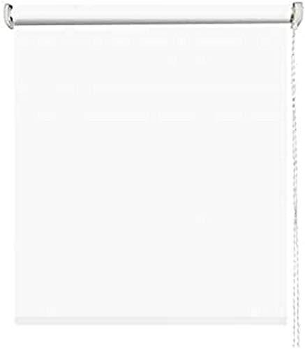 MADECOSTORE - Estor Enrollable Opaco Easy Roll Tejido Liso Gris Claro – 65 x 190 cm – Sin taladrar