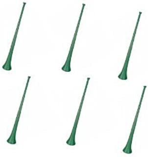 Vuvuzela - South African Style Collapsible 29 inch Horns, Green (Pack of 6)