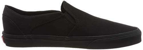 Vans Damen WM Asher Slip On Sneaker, Schwarz ((Canvas) Black/Black 186), 39 EU