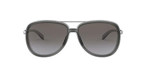 Oakley Women's OO4129 Split Time Metal Aviator Sunglasses, Onyx/Black Grey Gradient, 58 mm