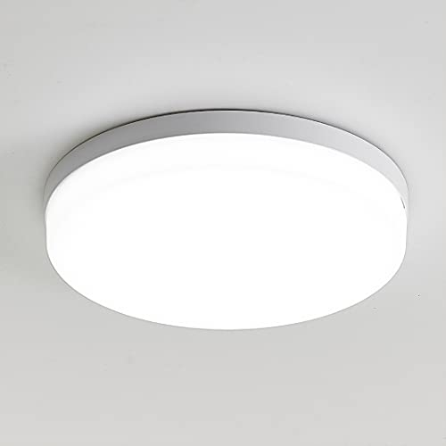 YOODI LED Lámpara de Techo 36W, Moderna Redonda Plafón led Techo, Diurna Blanca 6000K, 3240LM luces de techo empotradas brillantes para dormitorio Ø23CM, impermeable IP54, para cocina, sala de estar