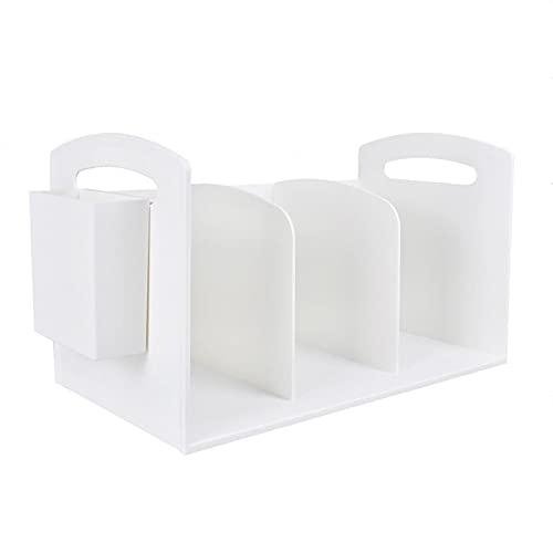 jinyi Sujeta Libros Sujetalibros Bookends de plástico Bookends Bookshelf 3-Capas Anti-Moving Sookend Student Desktop Booktop File Storage Rack (con el Titular de la Pluma) Creativa Sujetalibros
