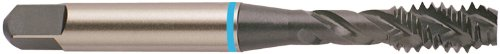 YG-1 BO Series Super HSS Spiral Flute Tap, Hardslick Coated, Round Shank with Square End, Modified Bottoming Chamfer, M6.0-1.0 Thread Size, D5 Tolerance
