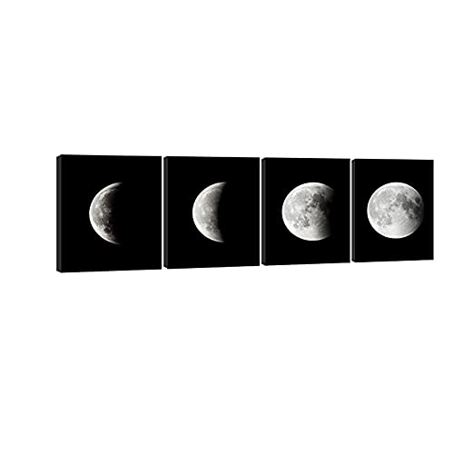 Modern Giclee Canvas Prints Stretched Artwork Abstract Space Black and White Pictures to Photo Paintings on Canvas