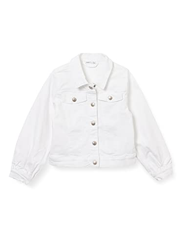 Name It NKFATACCAS TWI Jacket DD Giacca, Bianco, 146 Bambina