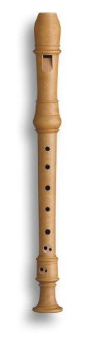 Mollenhauer 5107 Denner Sopran-Blockflöte Birnbaum hell Natur-Holz Barock Doppelloch