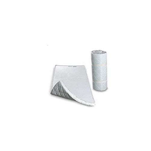 Colchón auxiliar con memoria de forma y espuma de poliuretano, cama supletoria o cama de invitados, cama enrollable, 70x 195cm, 120x195