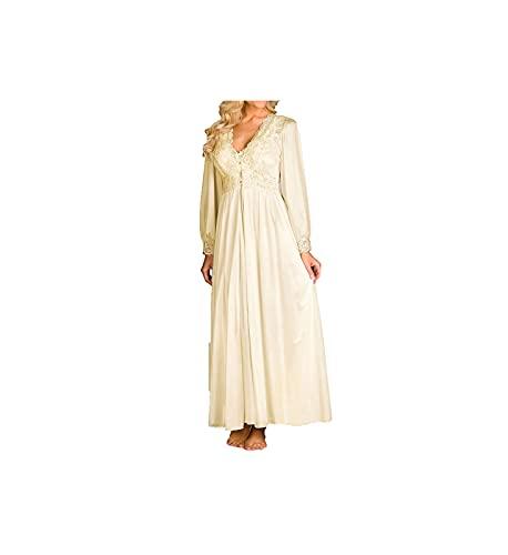"Shadowline Women's Silhouette 54"" Sleeve Long Coat, Ivory, Large"