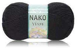 Nako VIZON Knitting Hand Yarn -black 217