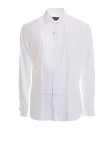 Corneliani - Camicia polso doppio - 45, Bianco