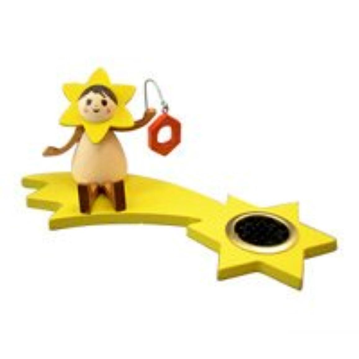 優しい検出器懸念インセンススタンド(香皿) 星の妖精 ランプ(座り) 【クーネルト】