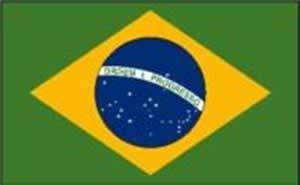 Uteruik Brazilië Vlag 5ft x 3ft/1.5m x 0.9m, 1 st