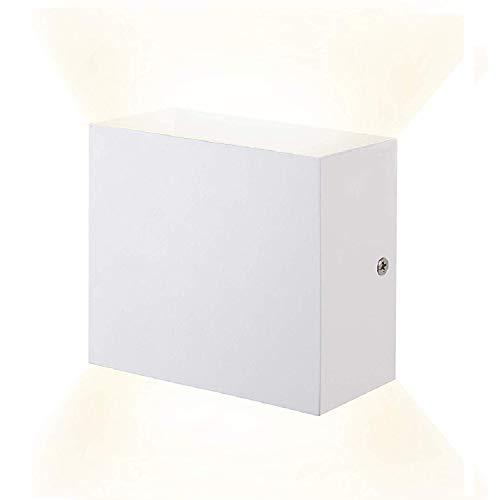 XIARU-6W LED Lámpara de pared Interior,Moderna Apliques de Pared,Moda Agradable Luz de Ambiente ,perfecto para Lámpara de Decoración para, AC85-265V, 10×10×5cm,Blanco Cálido