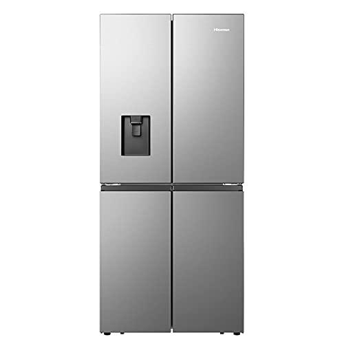 Hisense RQ560N4WCF American Fridge Freezer Cross Door - Stainless Steel - F Rated, Silver